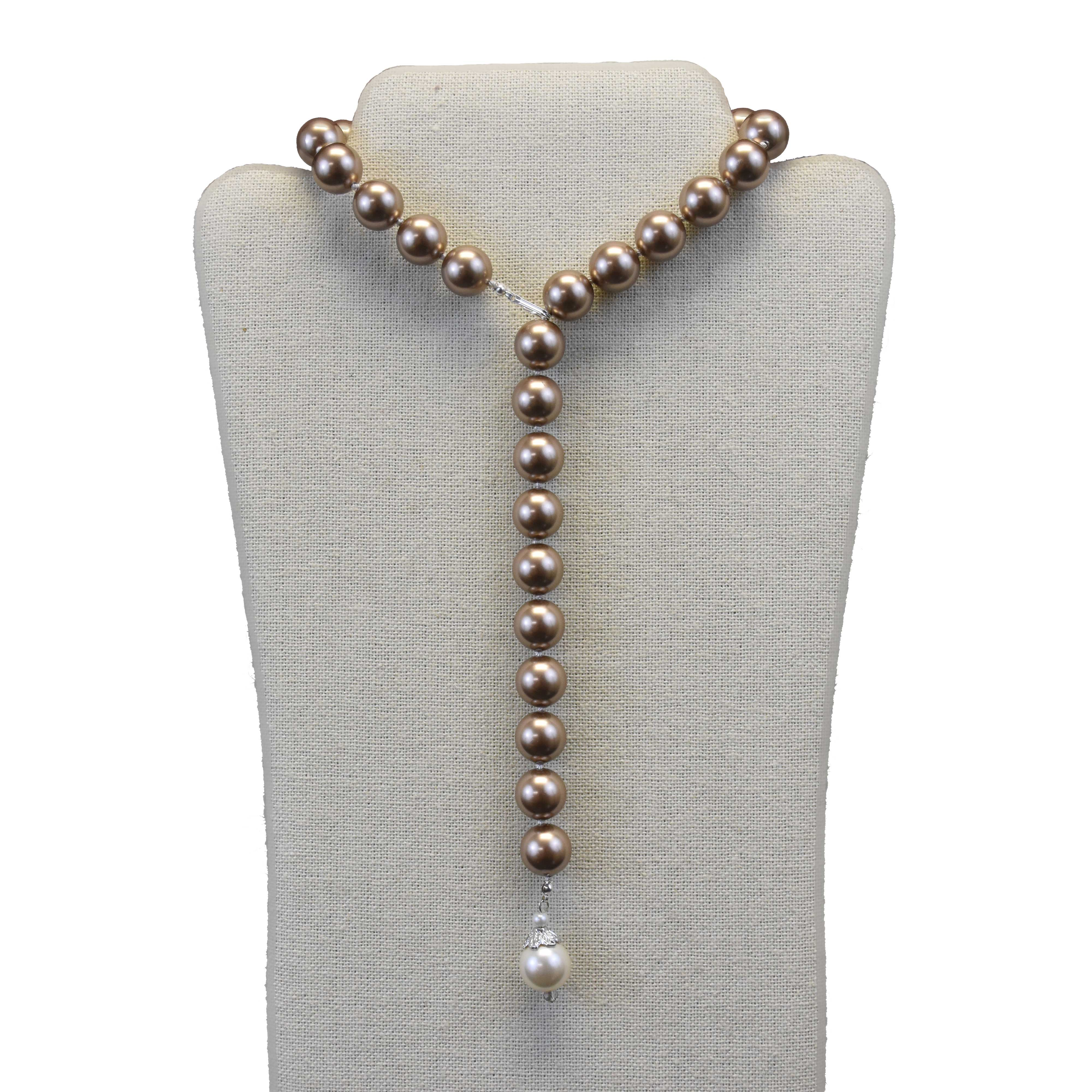 in round design black sterling silver available p aa asp knot pearl double pearls strand white necklace